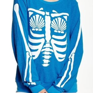Wildfox Mermaid X-Ray Pullover (Small)